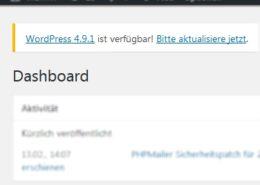 Update von WordPress